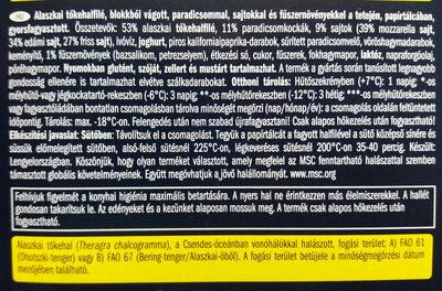 Alaszkai tőkehalfilé, paradicsomos - sajtos - Ingrédients - hu