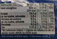 Delicias del mar - Informations nutritionnelles