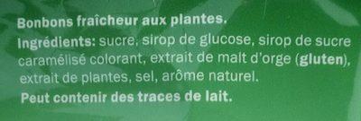 Bonbons aux plantes - Ingrédients