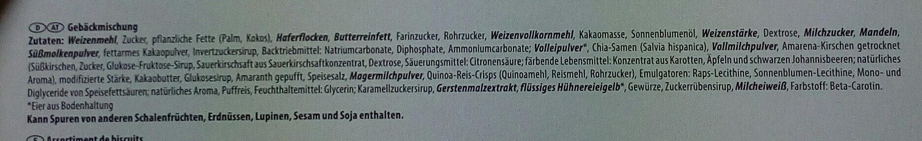 Feine Gebäck-Mischung - Zutaten - de