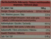 Feine Gebäck-Mischung - Nährwertangaben - de