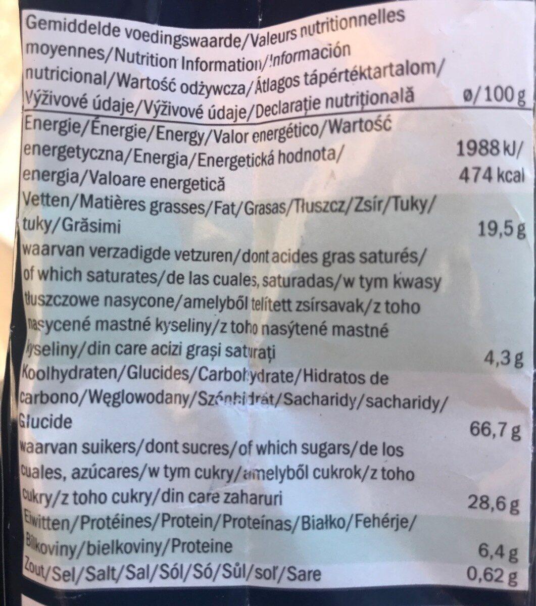 Fior di Cacao - Nutrition facts - de