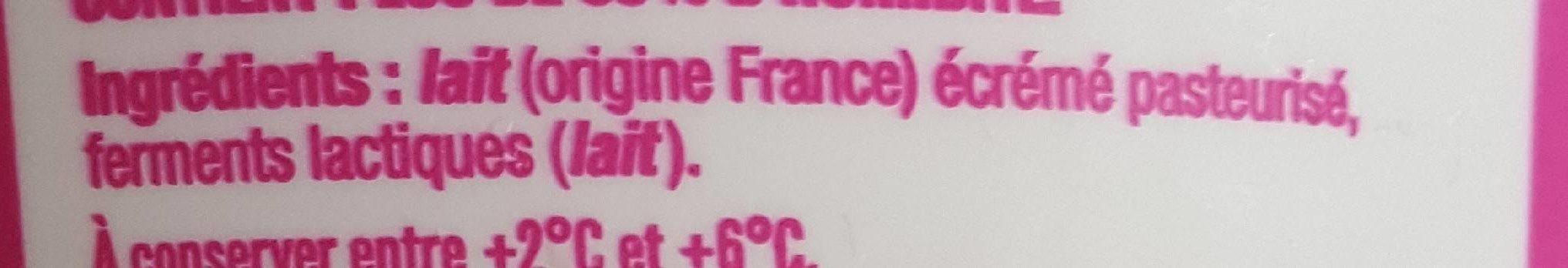 Fromage blanc 0% - Ingrédients