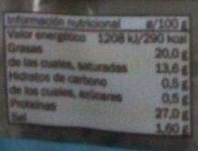 Queso tierno light lonchas - Voedingswaarden - es