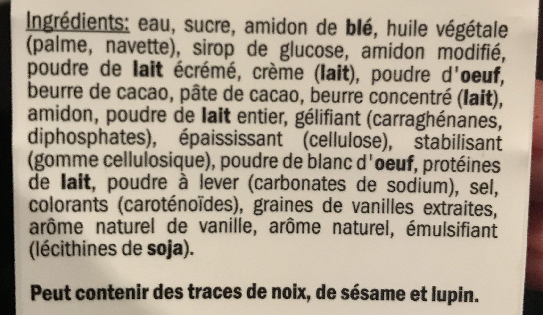 Éclairs - Ingrediënten - fr