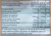 Alesto Cashews - Informazioni nutrizionali - es