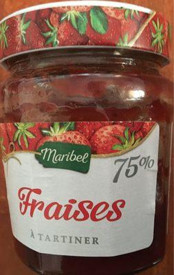 Confiture de fraises - 75 % de fruits - Product