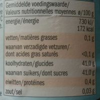 Confiture de fraise - Voedingswaarden - fr