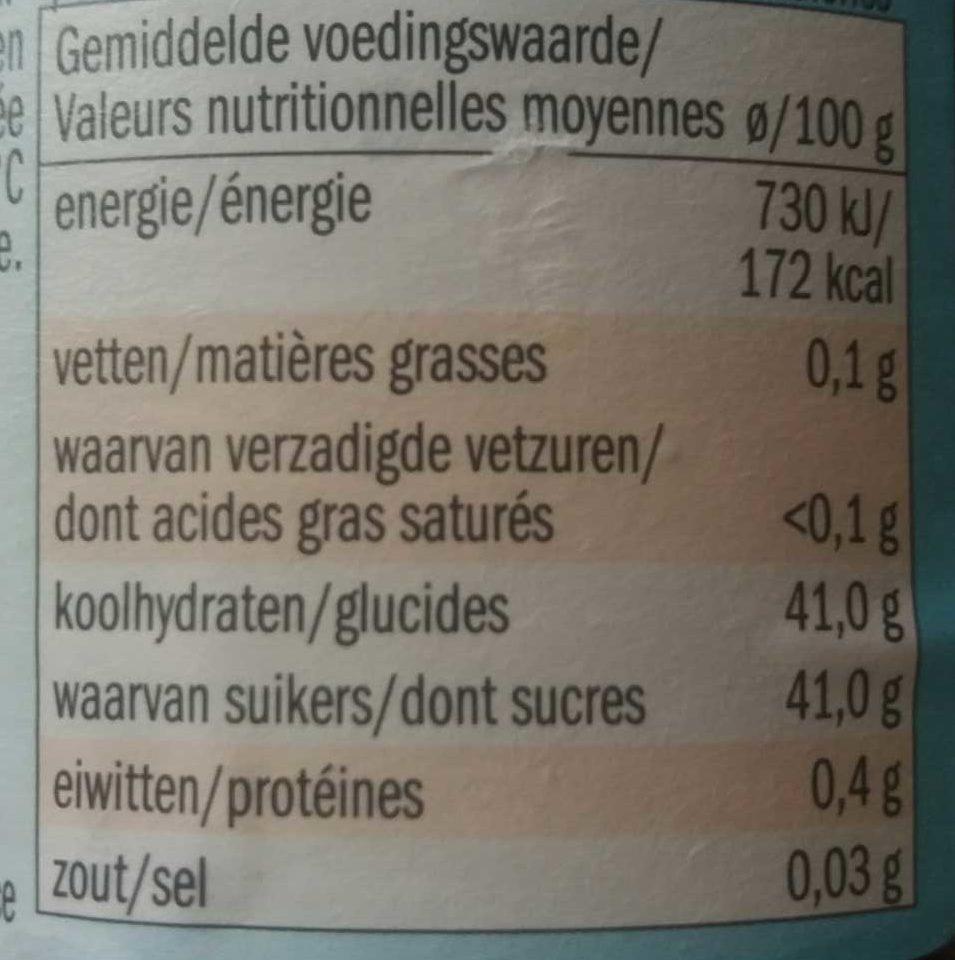 Confiture de fraise - Nutrition facts - fr