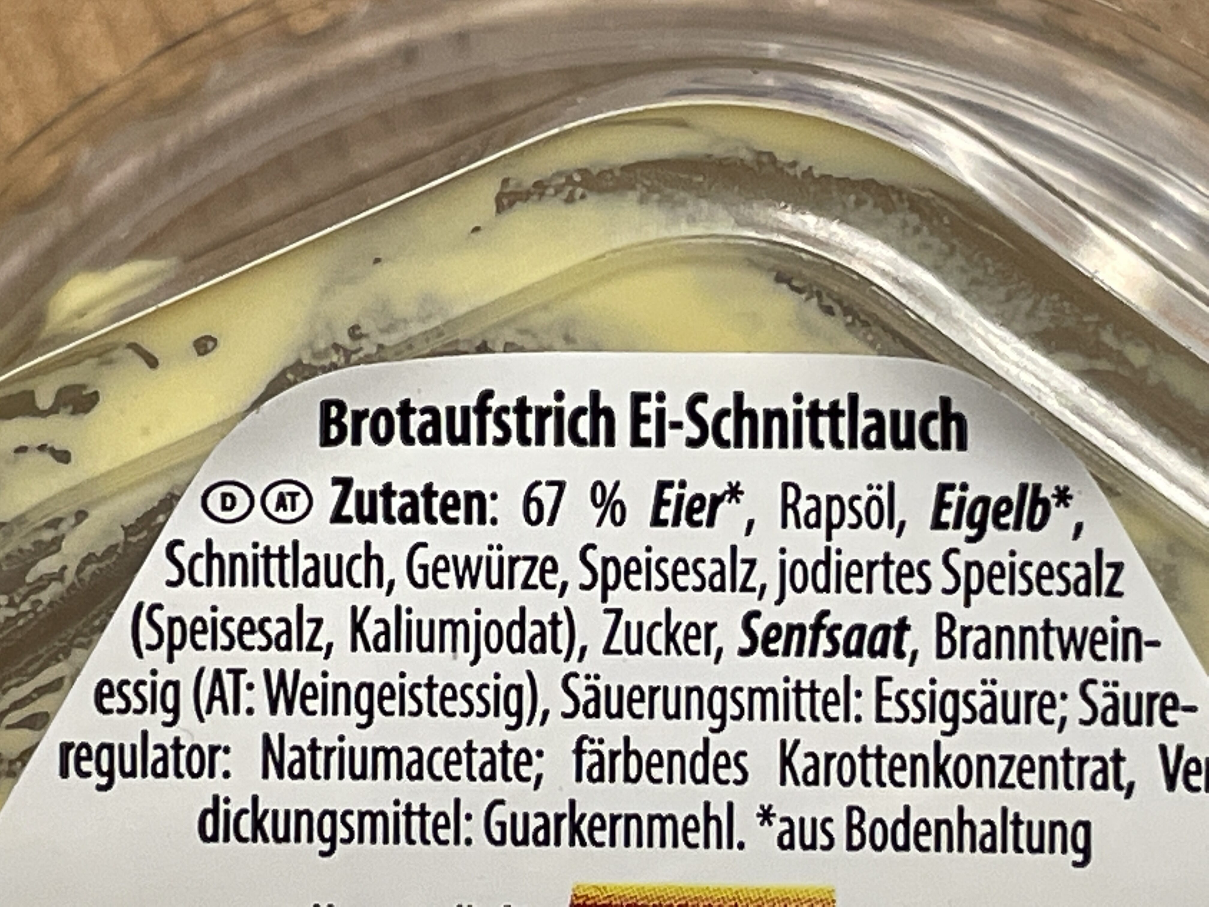 Brotaufstrich Eiersalat - Ingrédients - de