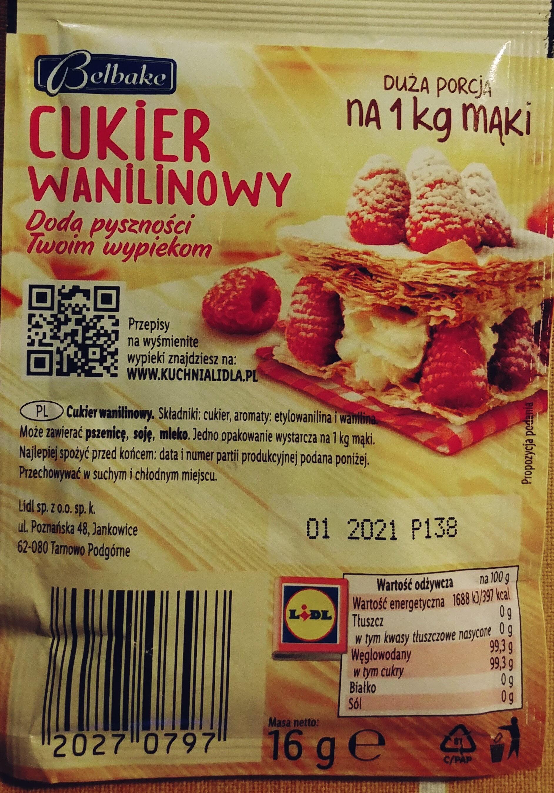 Cukier waniliowy - Składniki