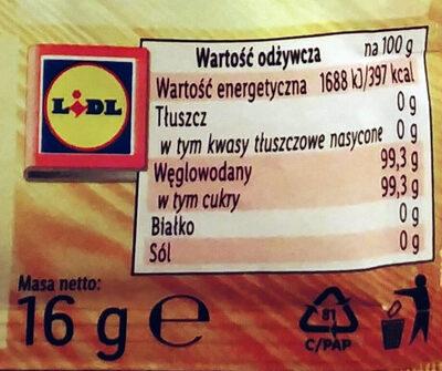 Cukier waniliowy - Wartości odżywcze