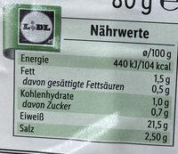 Gebackene Hähnchenbrust Kräuter - Información nutricional - de