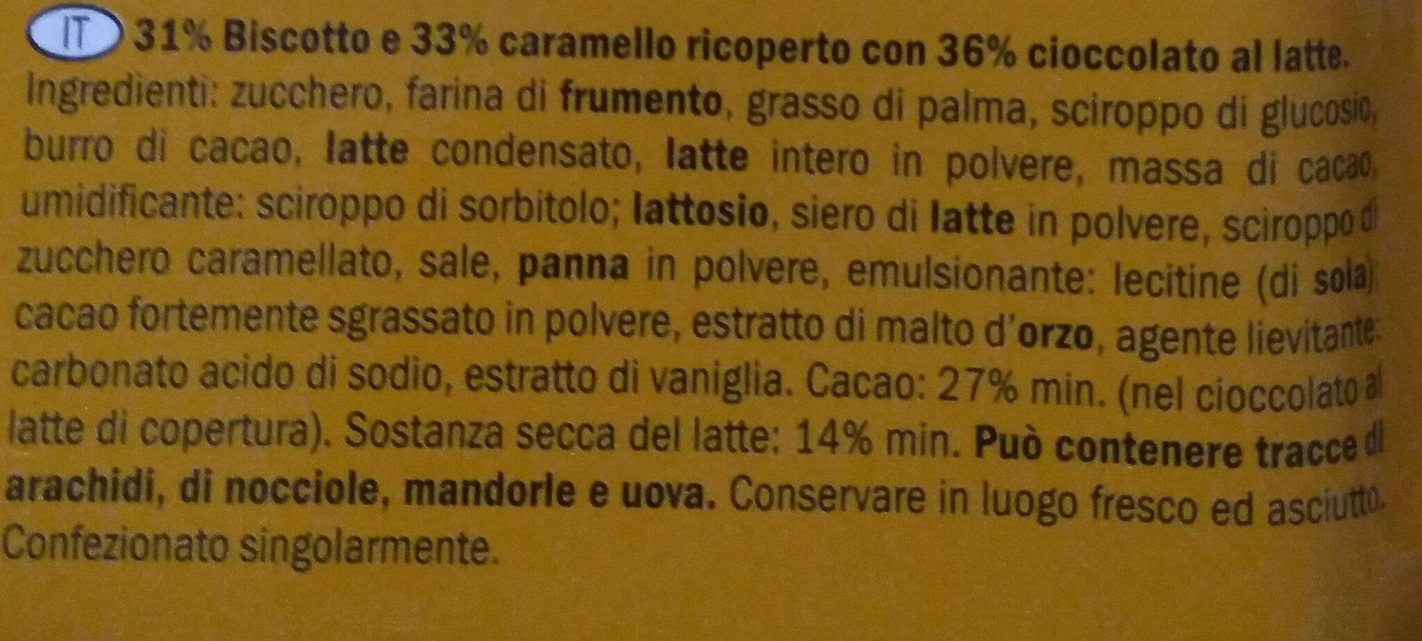Caramel & Biscuit - Ingredienti - it