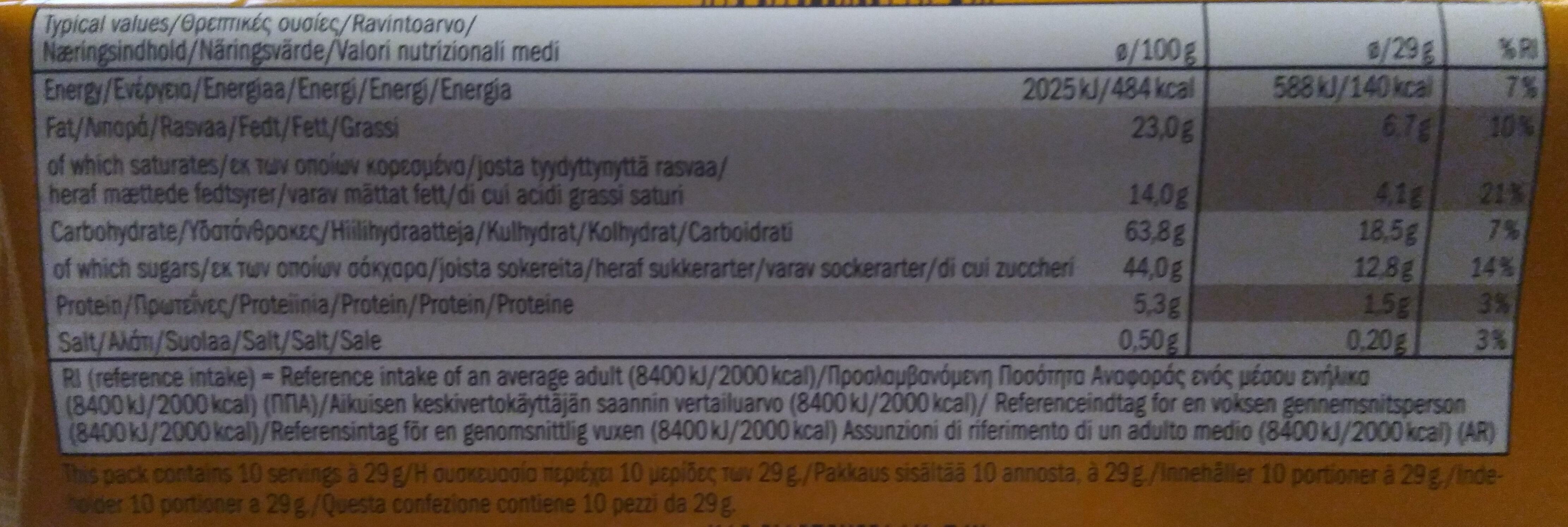 Caramel & Biscuit - Informazioni nutrizionali - en