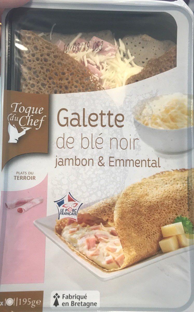 Galette de blé noir Jambon, emmental - Product