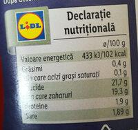 Ketchup - Valori nutrizionali - ro