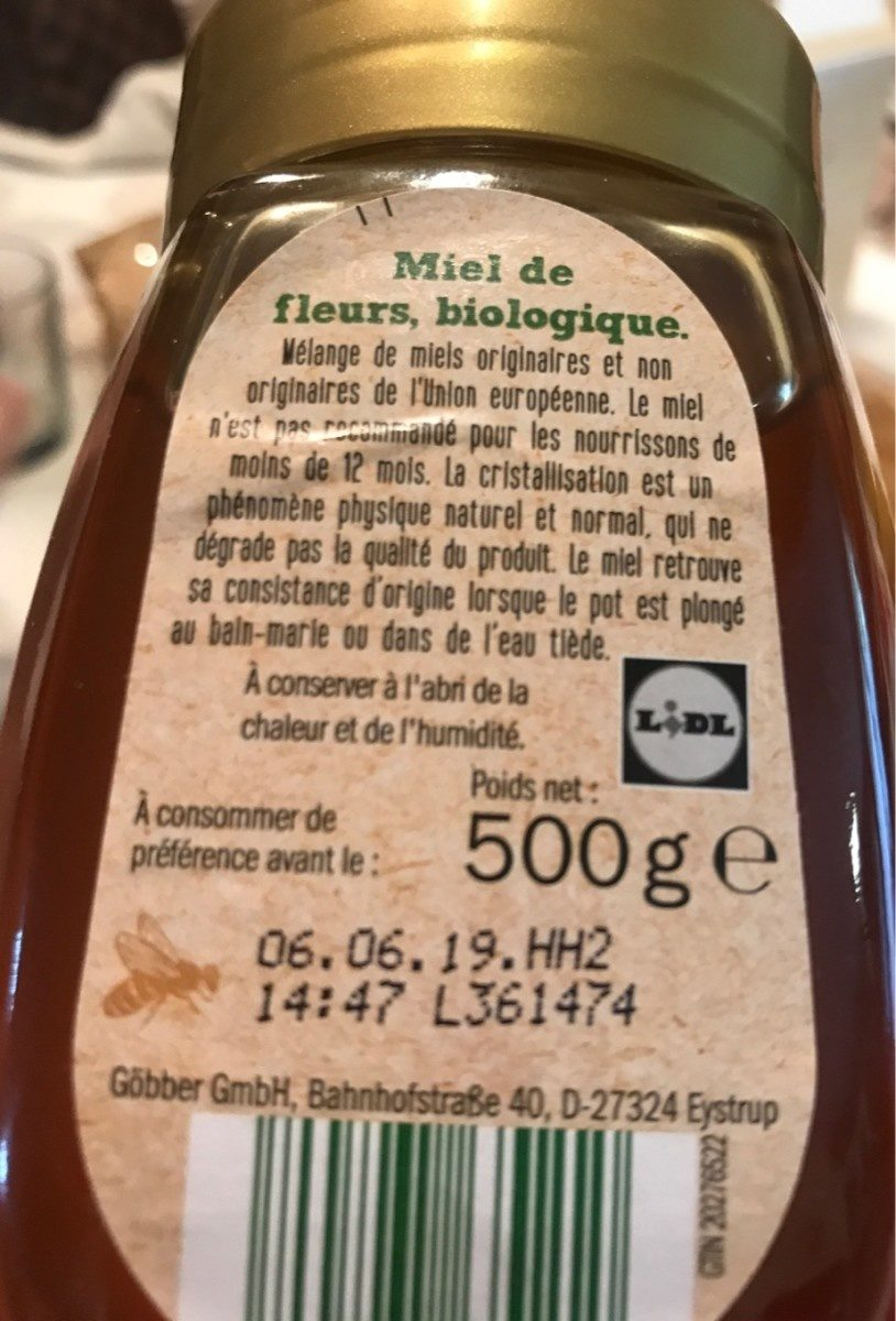 Miel de fleurs - Ingredients