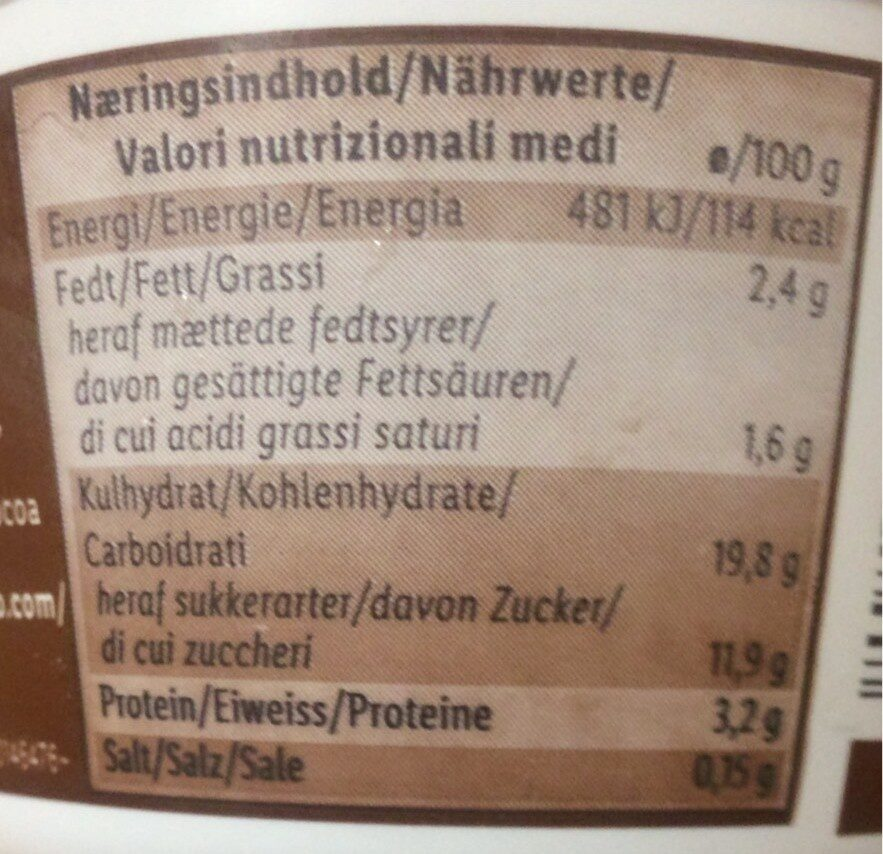 Rice milk dessert - Voedingswaarden - en