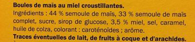 Boules au miel - Ingrédients - fr