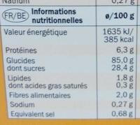 Boules au miel - Informations nutritionnelles - fr