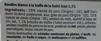Boudins blancs à la truffe 1,1% - Ingrédients - fr