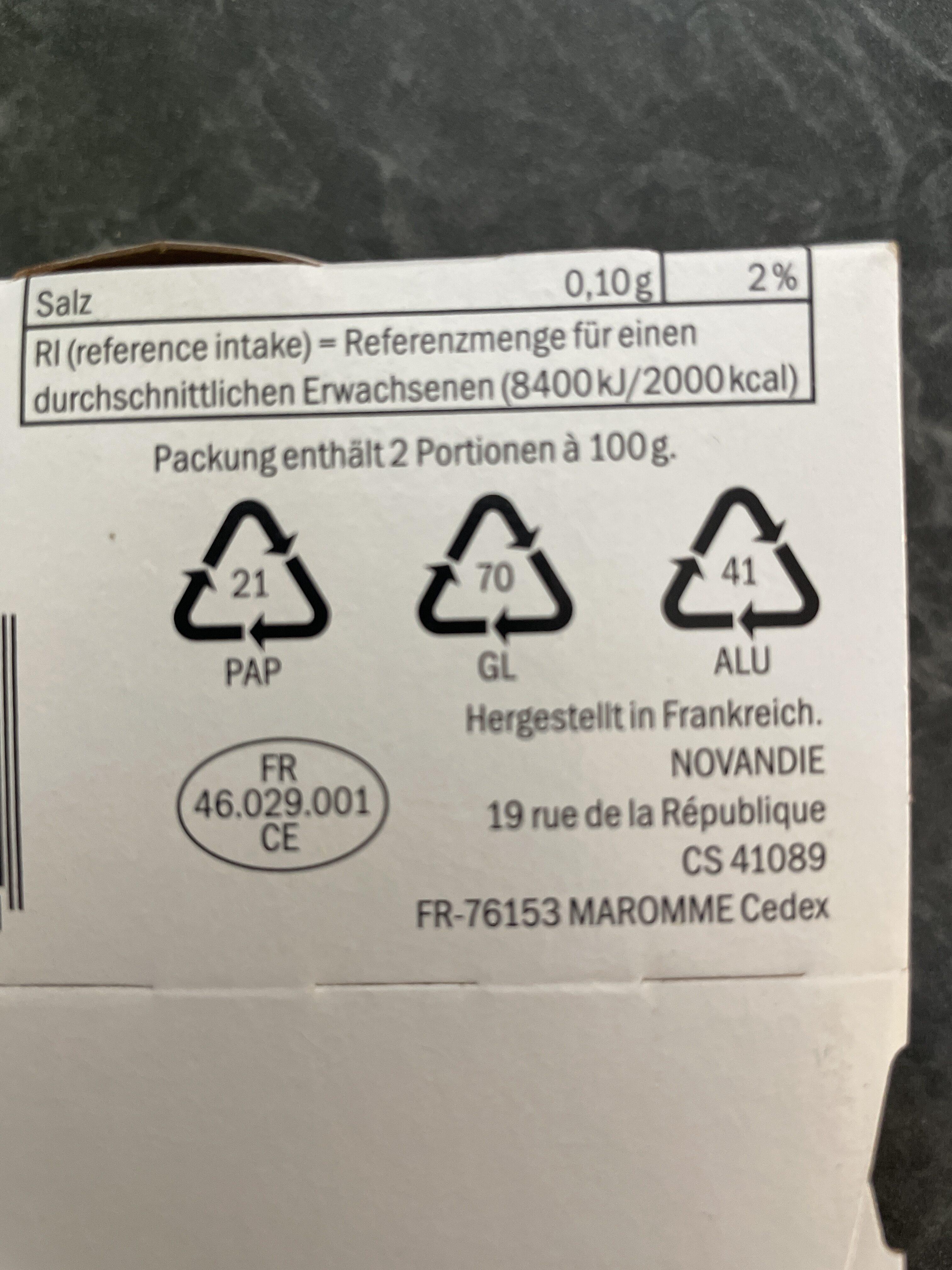 Crème brûlée - Wiederverwertungsanweisungen und/oder Verpackungsinformationen - fr