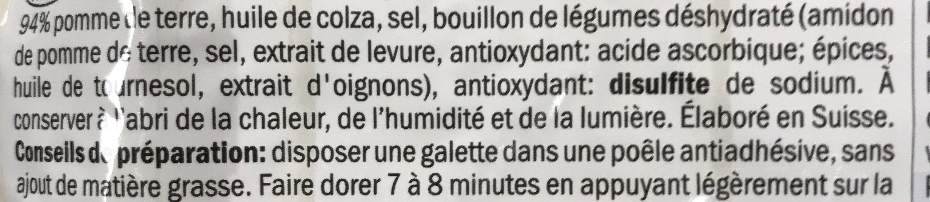 Rösti Classic - Ingrédients - fr