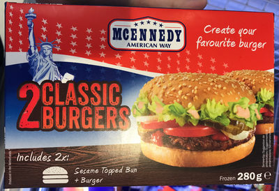 2 Classic Burgers - Product