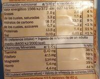Flocons d'avoine gros - Nutrition facts - en