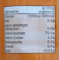 Spaghetti gluten free - Nutrition facts - de