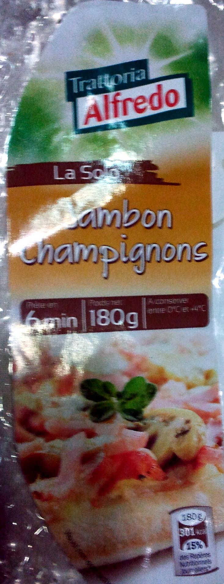 Pizza Jambon Champignons - Produit - fr
