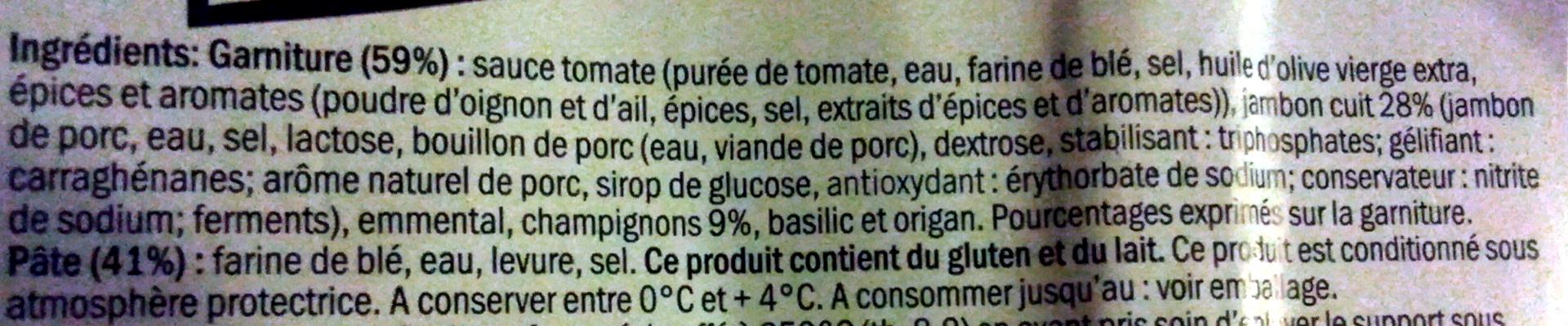 Pizza Jambon Champignons - Ingredients - fr