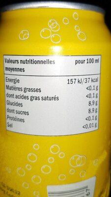 freeway tonic - Informations nutritionnelles