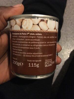 Champignons de Paris - Ingrediënten