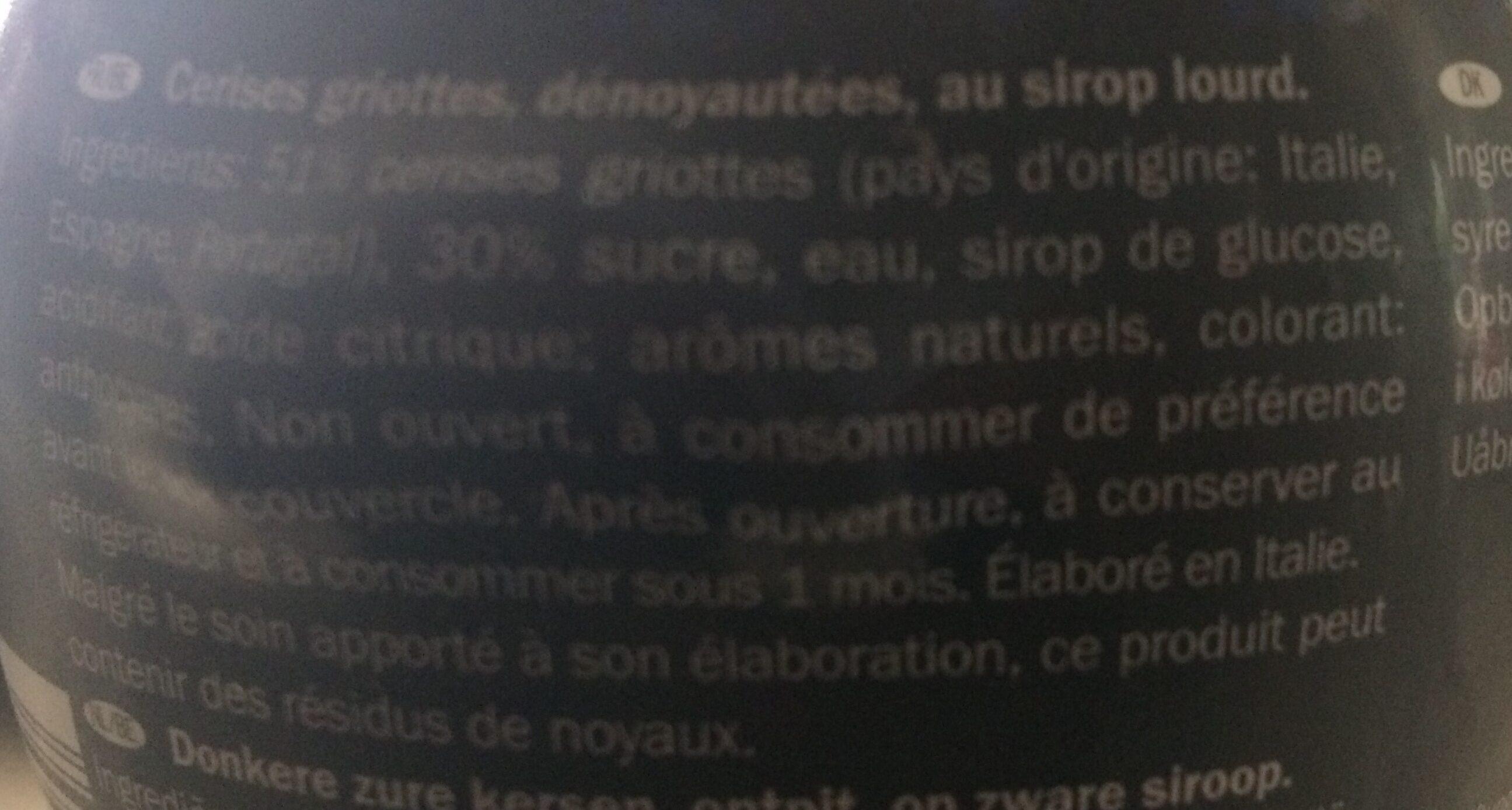 Amarena Kersen Op Siroop Pot 450 Gram (italiamo) - Ingredients - en