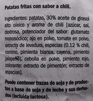 Patatas fritas sabor chili - Ingredients