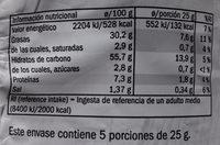 Patatas fritas sabor chili - Informació nutricional