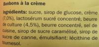 Gourmandise d'autrefois - Ingrediënten