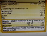 Margaryna półtłusta 40% Produkt do smarowania - Wartości odżywcze - pl
