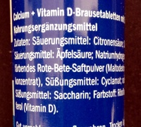 Calcium + Vitamine D3 - Ingredients