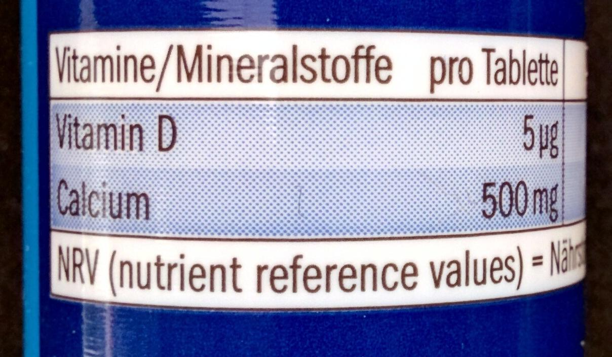 Calcium + Vitamine D3 - Nutrition facts