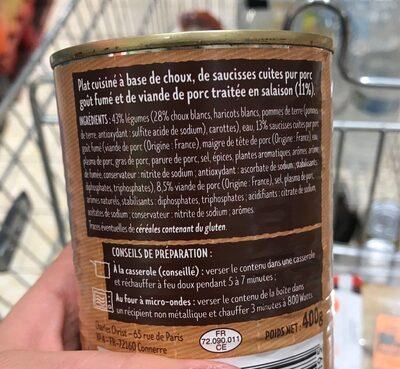Potée aux choux - Ingrédients - fr