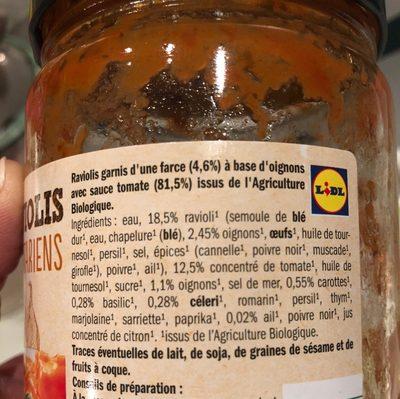 Raviolis Végétariens - Ingrédients