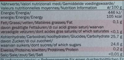 Gelatelli Erdbeer, Erdbeere - Informations nutritionnelles