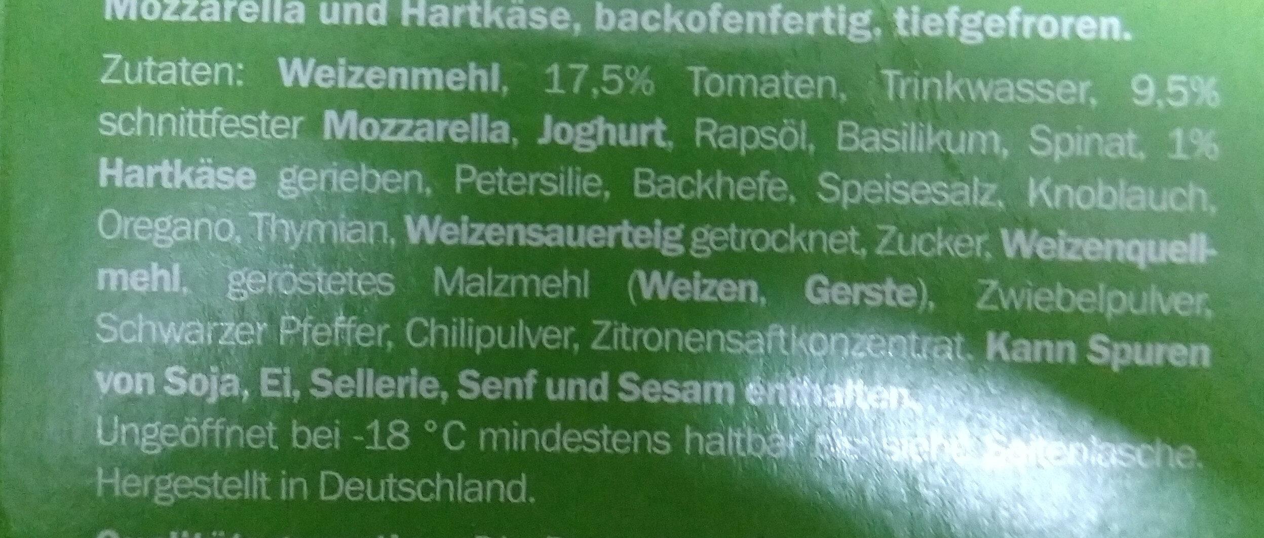 Pizza baguette alfredo - Ingredients - de