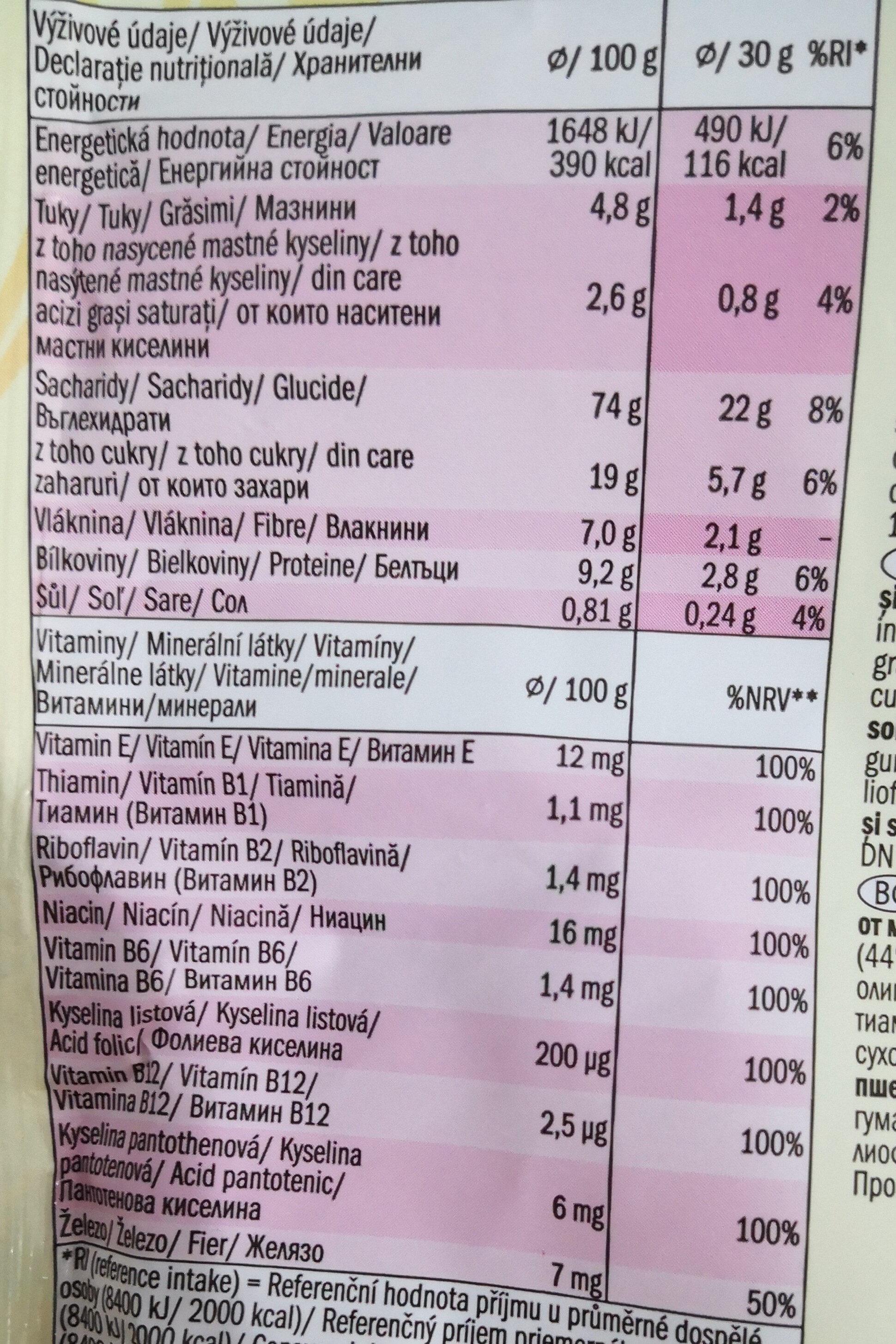 Fulgi de grâu integral și orez în glazura - Nutrition facts