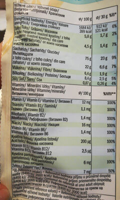 Vitte - wheat and rice flakes - Informations nutritionnelles