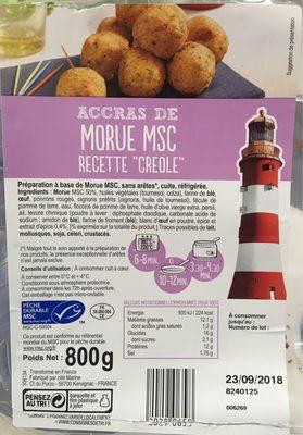 Accras de Morue MSC recette créole - Product