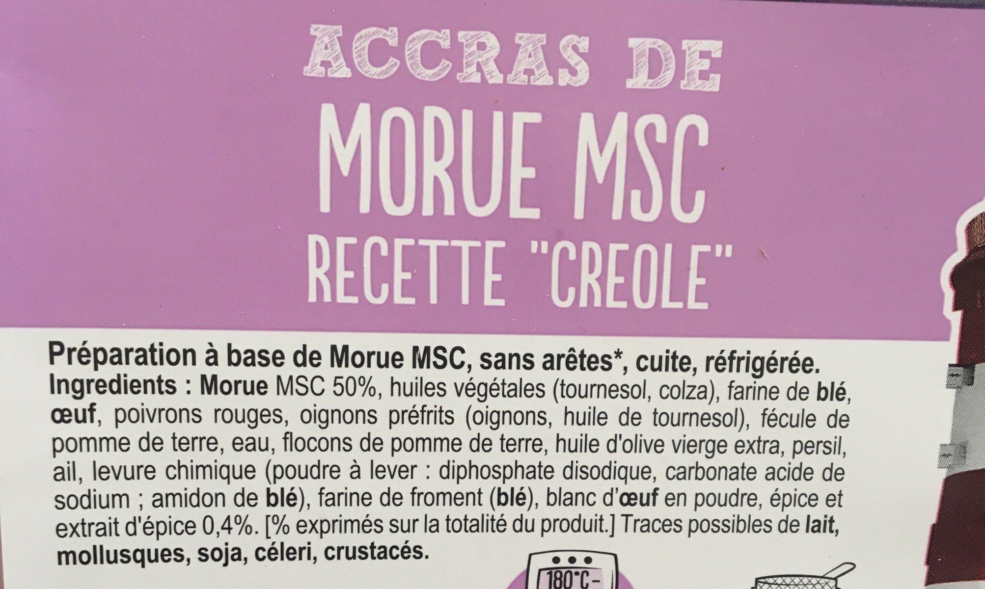 Accras de Morue MSC recette créole - Ingredients